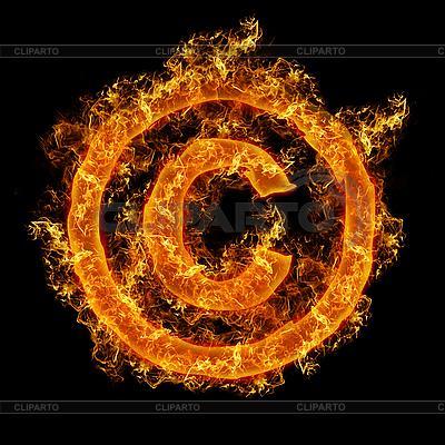 Prawa autorskie znak ognia | Foto stockowe wysokiej rozdzielczości |ID 3021449