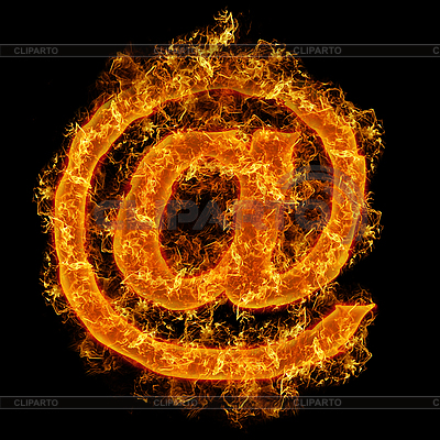 Pożar znak poczty | Foto stockowe wysokiej rozdzielczości |ID 3021457