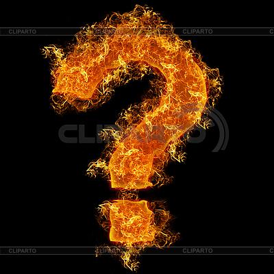 Znak zapytania ogień query | Foto stockowe wysokiej rozdzielczości |ID 3021465