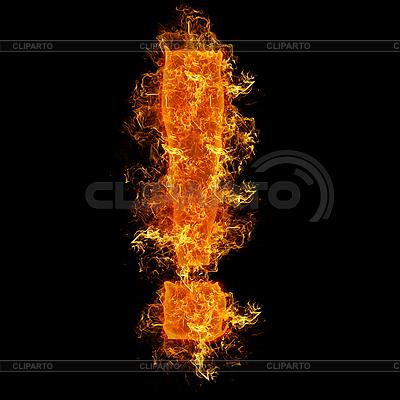 Feuer-Ausrufezeichen | Foto mit hoher Auflösung |ID 3021466
