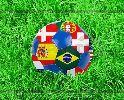 Fußball im Gras | Foto mit hoher Auflösung |ID 3021468