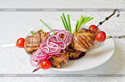 Grillowane mięso kebab | Foto stockowe wysokiej rozdzielczości |ID 3027036