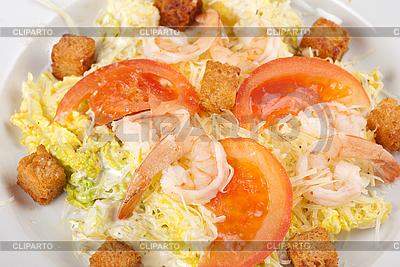 Sałatka z krewetkami | Foto stockowe wysokiej rozdzielczości |ID 3027093