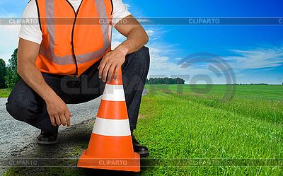 Robotnik drogowy | Foto stockowe wysokiej rozdzielczości |ID 3027317