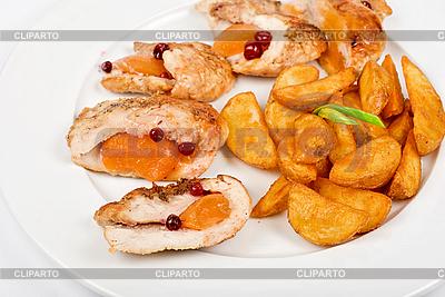 Brathähnchen Fleisch und Kartoffeln | Foto mit hoher Auflösung |ID 3027453