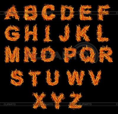 Feuer-Alphabet | Foto mit hoher Auflösung |ID 3027692