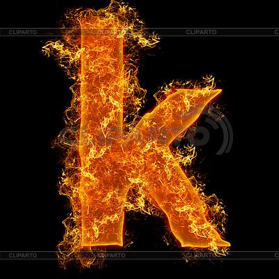 Ogień mała litera K | Foto stockowe wysokiej rozdzielczości |ID 3027707
