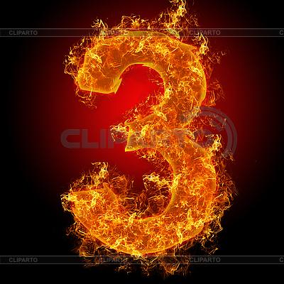 Feuer-Ziffer 3 | Foto mit hoher Auflösung |ID 3027931