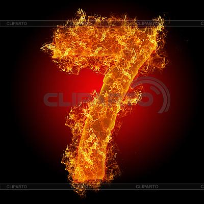 Feuer-Ziffer 7 | Foto mit hoher Auflösung |ID 3027950