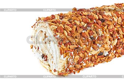 Bisquit rolki z orzechami | Foto stockowe wysokiej rozdzielczości |ID 3028028