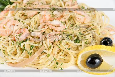 Pasta mit Garnelen | Foto mit hoher Auflösung |ID 3028123