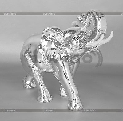 Silberschmuck als Elefant | Foto mit hoher Auflösung |ID 3028651
