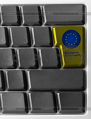 Computer-Tastatur mit EU-Taste | Foto mit hoher Auflösung |ID 3029743