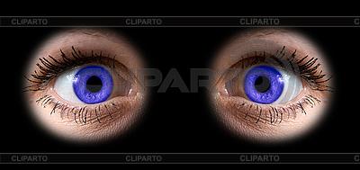 Женские голубые глаза | Фото большого размера |ID 3029747