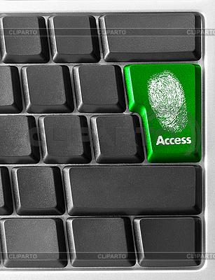 Computer-Tastatur mit Zugang-Taste | Foto mit hoher Auflösung |ID 3029804
