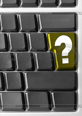 Computer-Tastatur mit gelber Fragen-Taste | Foto mit hoher Auflösung |ID 3029821