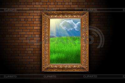 Bild mit blauem Himmel und Gras | Foto mit hoher Auflösung |ID 3029959