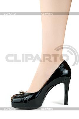 Nogi kobieta w czarnym bucie | Foto stockowe wysokiej rozdzielczości |ID 3030281