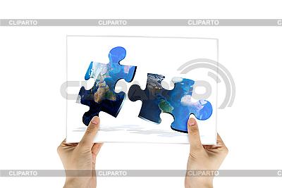 Puzzle aus Teilen der Wektkarte | Foto mit hoher Auflösung |ID 3030295