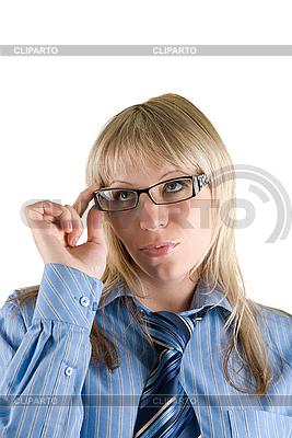 Business-Frau mit Brille | Foto mit hoher Auflösung |ID 3030470