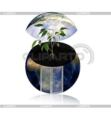 Земной шар как экологичный дом | Фото большого размера |ID 3030544