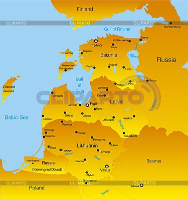 Страны Балтии | Иллюстрация большого размера |ID 3030597
