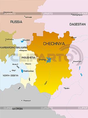 Подробная Карта Чеченской Республики