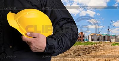 Bauarbeiter mit gelbem Helm | Foto mit hoher Auflösung |ID 3030619