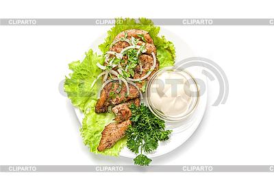 Pieczone mięso w sosie | Foto stockowe wysokiej rozdzielczości |ID 3030824
