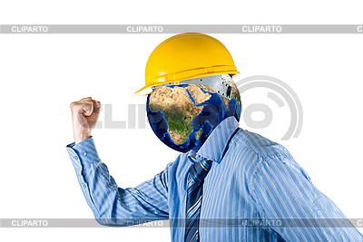 Człowiek z głową planety | Foto stockowe wysokiej rozdzielczości |ID 3030871