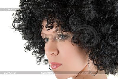 Junge Frau mit dem lockigen Haar | Foto mit hoher Auflösung |ID 3030959
