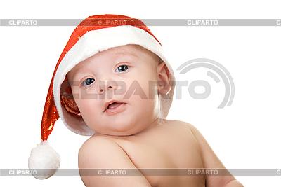 Baby Junge in Weihnachtsmütze | Foto mit hoher Auflösung |ID 3031162