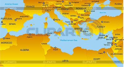 Mittelmeer-Region | Illustration mit hoher Auflösung |ID 3031441