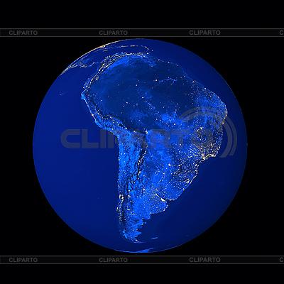 Ameryka Południowa w nocy | Foto stockowe wysokiej rozdzielczości |ID 3031455