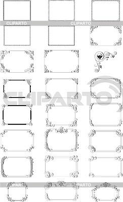 Vignetten-Rahmen | Illustration mit hoher Auflösung |ID 3031513