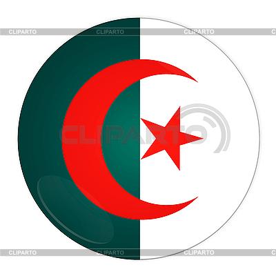 Icon mit Flagge von Algerien | Illustration mit hoher Auflösung |ID 3032498