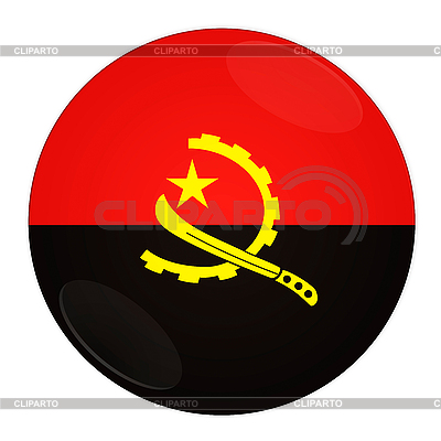 Angola przycisk z flagą | Stockowa ilustracja wysokiej rozdzielczości |ID 3032499