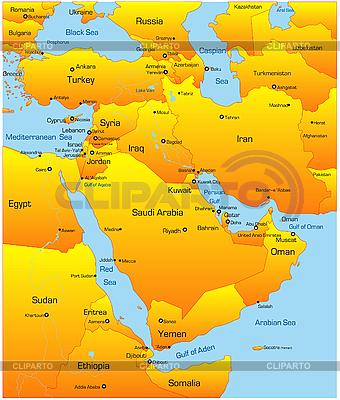 Mittlerer Osten | Stock Vektorgrafik |ID 3033509