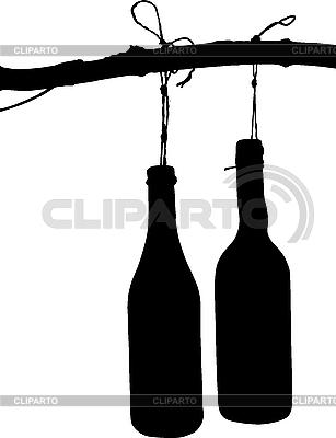 Flasche auf dem Zweig | Stock Vektorgrafik |ID 3033713