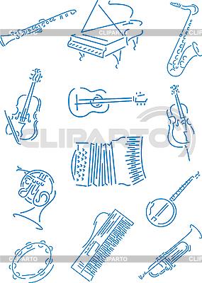 Instrumenty muzyczne | Klipart wektorowy |ID 3035448