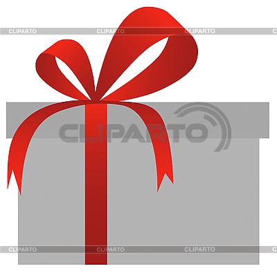 Pudełko z czerwoną kokardką | Klipart wektorowy |ID 3035465