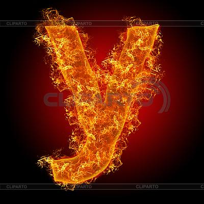 Огненные буквы | Серия изображений | CLIPARTO