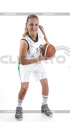 Atrakcyjna kobieta koszykarz | Foto stockowe wysokiej rozdzielczości |ID 3019939