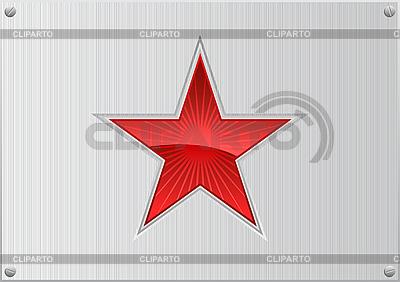 Czerwona gwiazda na aluminium | Klipart wektorowy |ID 3019950