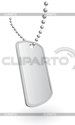 Militär-Aluminiumplatte | Stock Vektorgrafik |ID 3019954