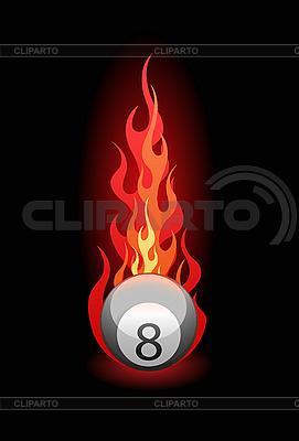 Billardkugel im Feuer | Stock Vektorgrafik |ID 3019997