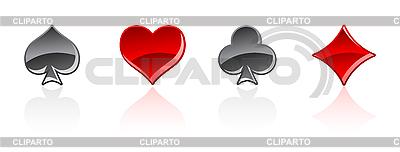 Symbole karty gry | Klipart wektorowy |ID 3020538