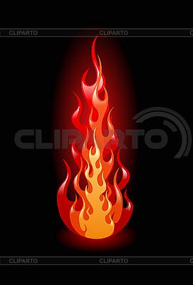 Flame auf Schwarz | Stock Vektorgrafik |ID 3020581