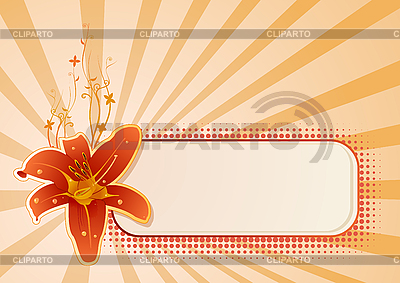 Horizontales Getäfel für Text mit Orchidee | Stock Vektorgrafik |ID 3020613