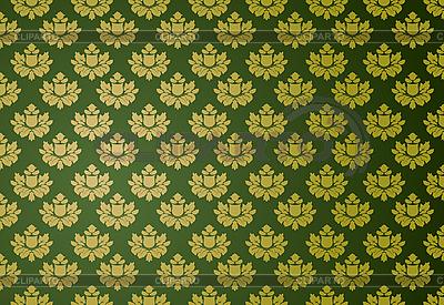 Złoty i zielony wzór glamour | Klipart wektorowy |ID 3021491
